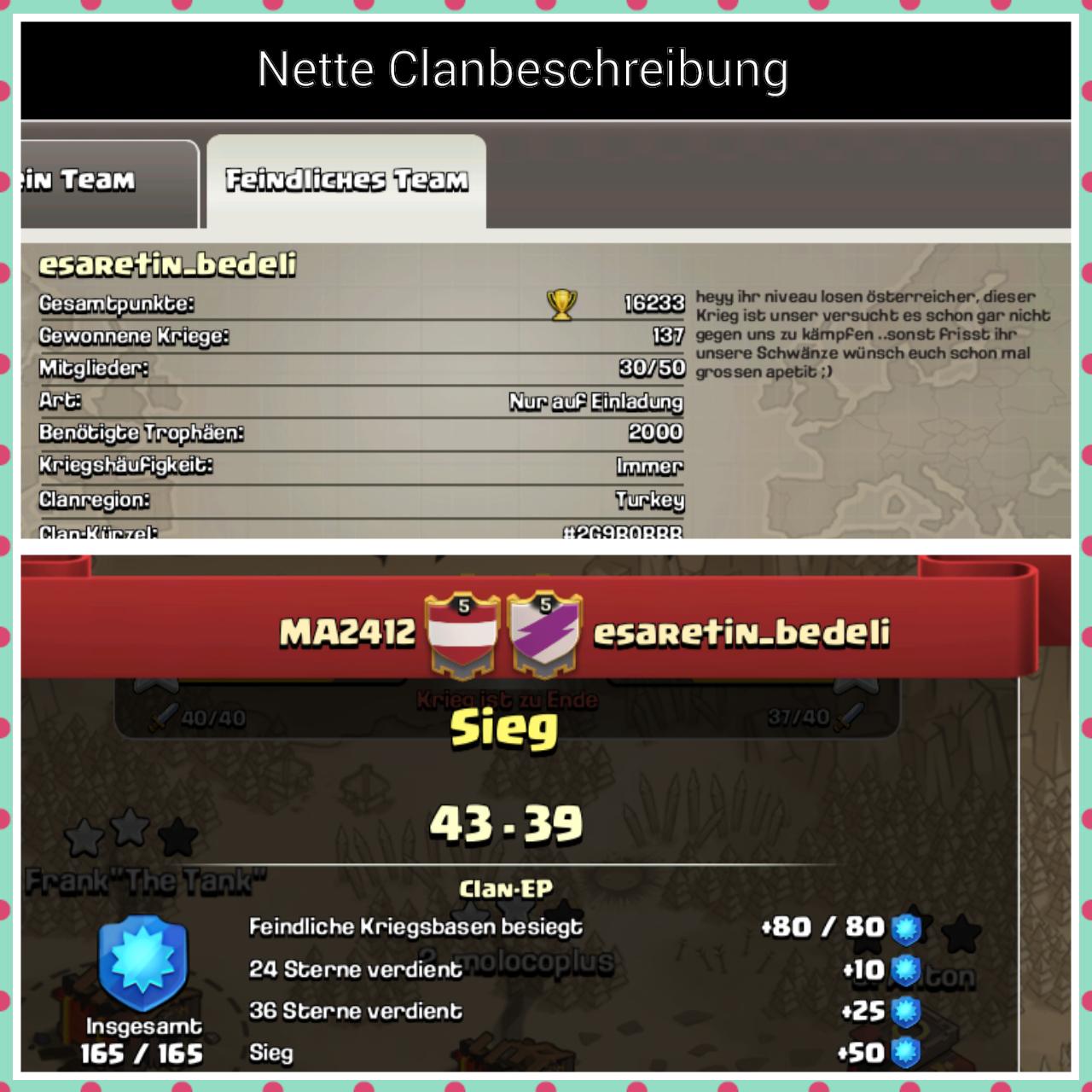 Nette Clanbeschreibung Vom Clan Esaretin Bedeli Best Of Screenshots Deutsches Clash Of Clans Forum
