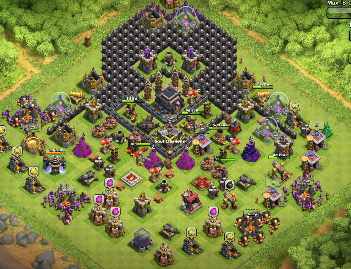 Best Clash Of Clans Base Design Th